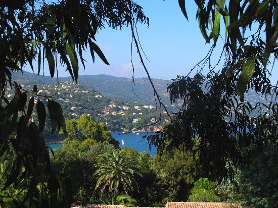 Résidence Goélia Le Lavandou Le Domaine de la Pinède : vue de la terrasse de notre appartement
