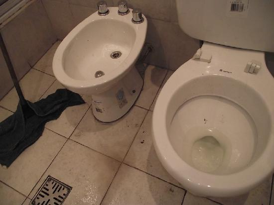 La Rocca Hostel: Disgusting shared bathroom