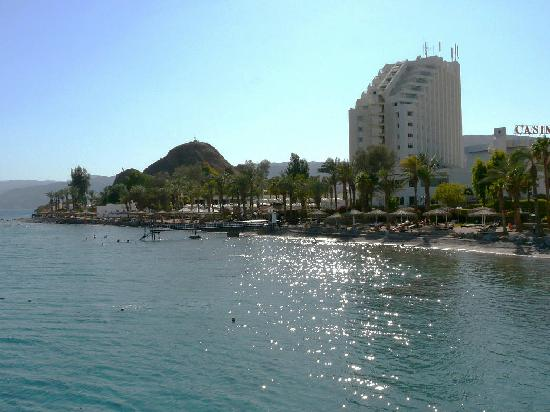 Taba Hotel and Nelson Village: View of hotel from boat