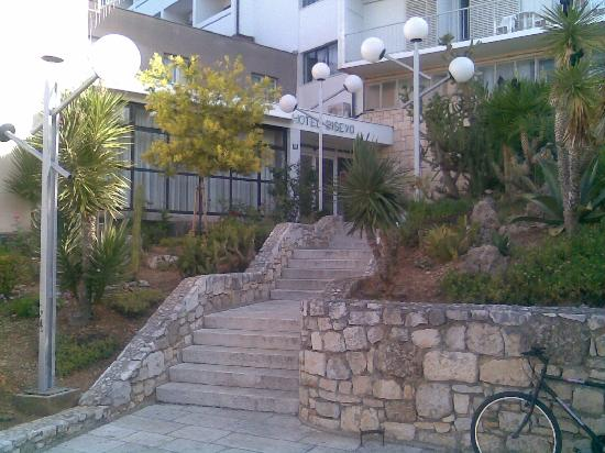 hotel Bisevo: Entrance with staircase