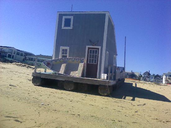 Moffett House: on my beach walk