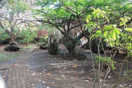 Aukara Lodge, El Taller de Bene Tuki: jardins do hotel