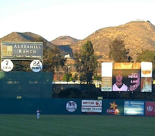 Lake Elsinore Storm, The Diamond: Beautiful Sky & Mountains beyond CF