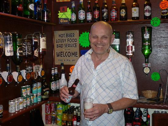 The Elmdene: Andy on Bar Duty