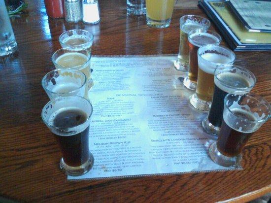 Devils Backbone Brewing Company: beer sampler at Devil's Backbone!
