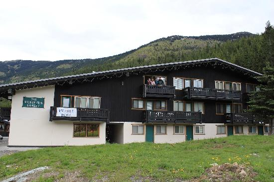 Silver Skis Chalet: My family waving from the balcony of our suite