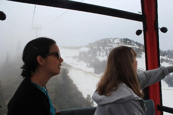 Silver Skis Chalet: On the gondola