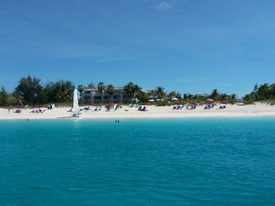 Royal West Indies Resort: Our beach from the snorkeling boat