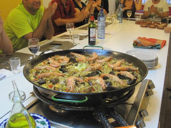Seafood Paella! - Picture of Cook and Taste Barcelona Cooking Classes ...