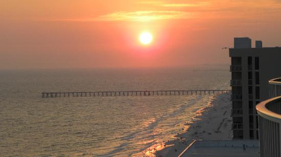 Ocean Villa Condos: sunset from balcony 23rd floor