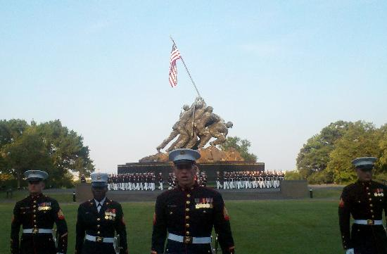 U.S. Marines Sunset Parade: Silent Drill Platoon Exhibition