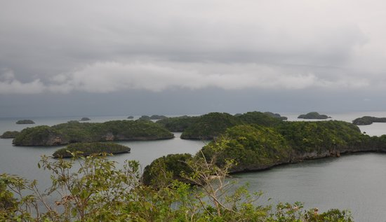 Ilocos Region, Filippinerna: View from on top of Governors Island