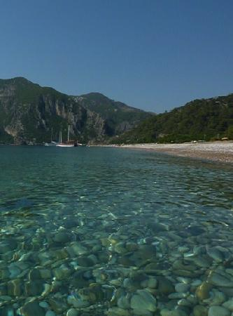Odile Hotel: olympos beach from Cirali side