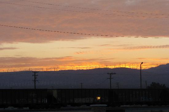 Motel 6 Mojave - Airport: Windmills by sunset