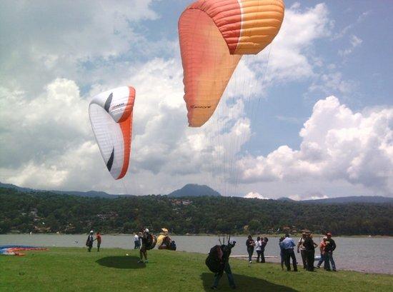 Valle de Bravo, México: zona de aterrizaje