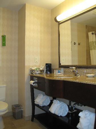 Hampton Inn & Suites Jacksonville-Airport: Salle de bain