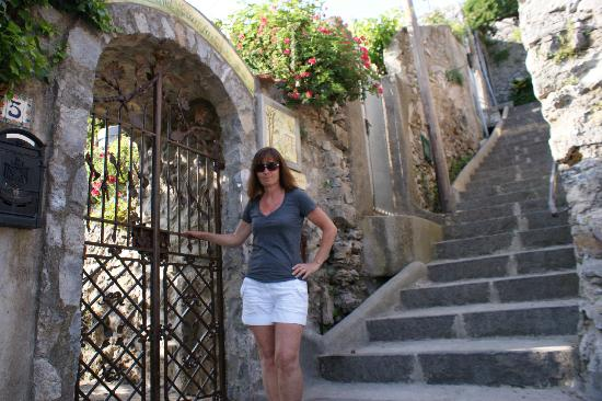 Front Gate And The Formidable Stairs Picture Of Villa La Quercia