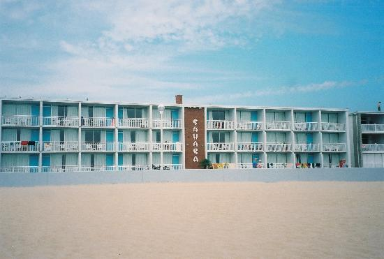 Sahara Motel Oceanfront Building from the beach