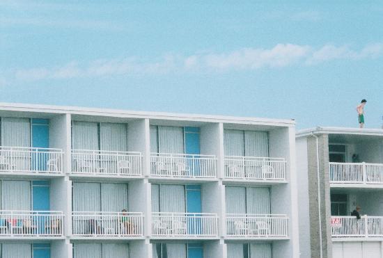 Sahara Motel Oceanfront Building balconies