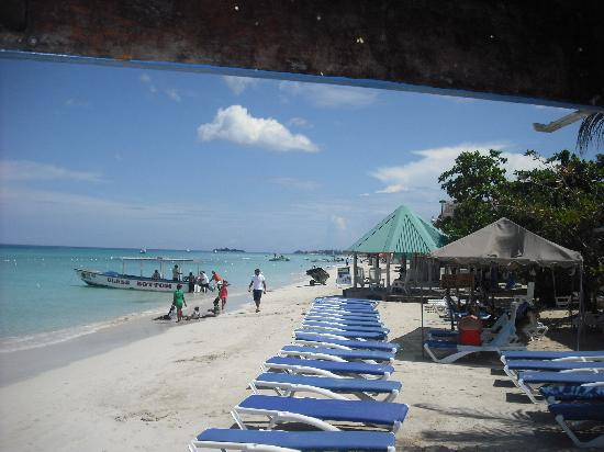 Negril Tree House Resort : The beach right on Negril Tree House property.