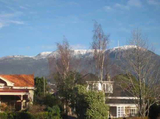 Clydesdale Manor: The view of Mt Wellington from the driveway