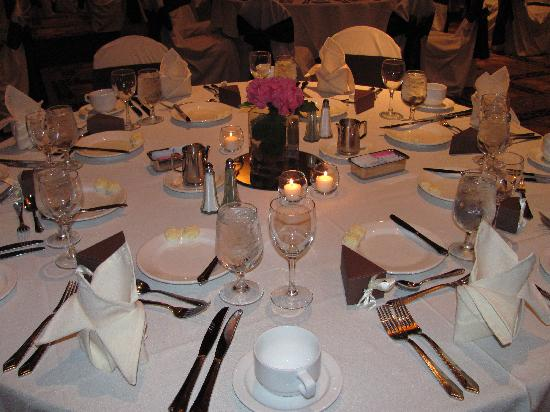 Grand Casino Hinckley: Our table at the wedding reception.