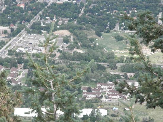 Lookout Mountain Nature Center : Looking down at Golden.