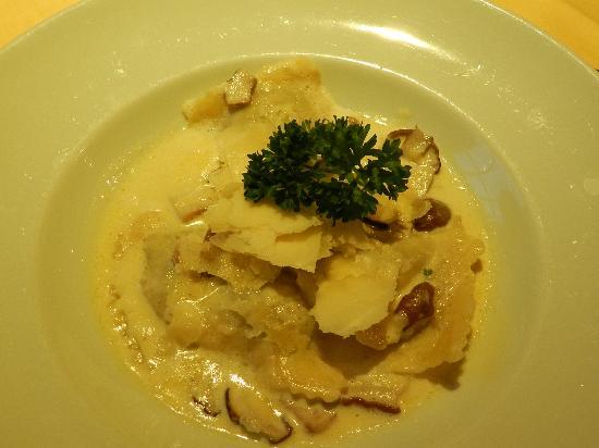 Hotel Mühle: Wild mushroom ravioli