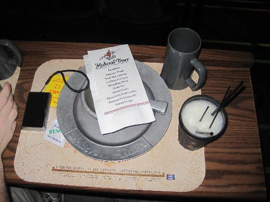 table setting - Picture of Medieval Times, Lyndhurst - TripAdvisor