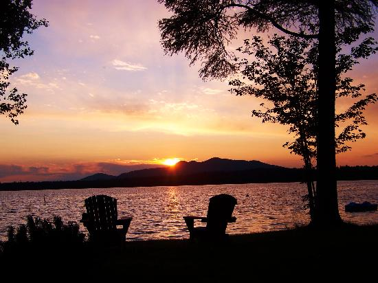 Lake Clear Lodge & Retreat: another gorgeous sunset