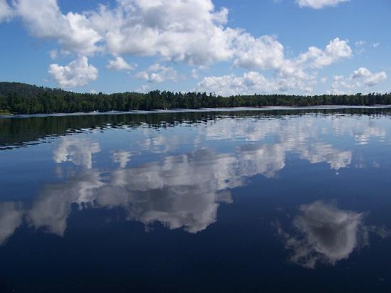 Lake Clear Lodge & Retreat: reflections on the lake