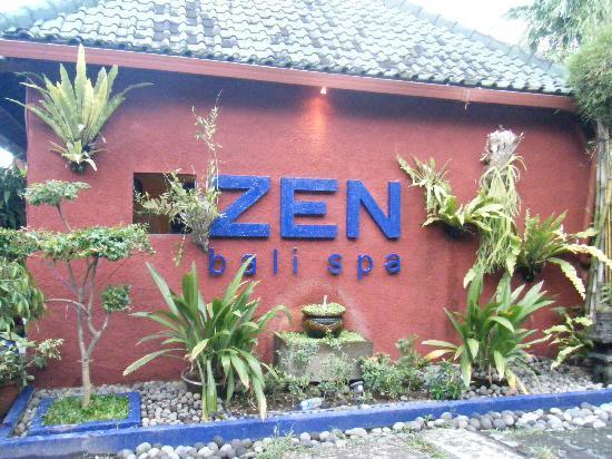 Outside Zen Bali Spa
