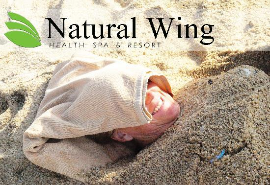 Natural Wing Health Spa & Resort: Sand Therapy in Detox Program