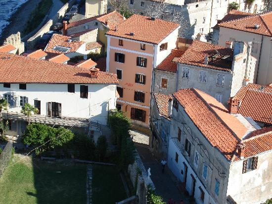 Max Piran: View of Max's from bell tower. Don't forget to climb the bell tower and see it all