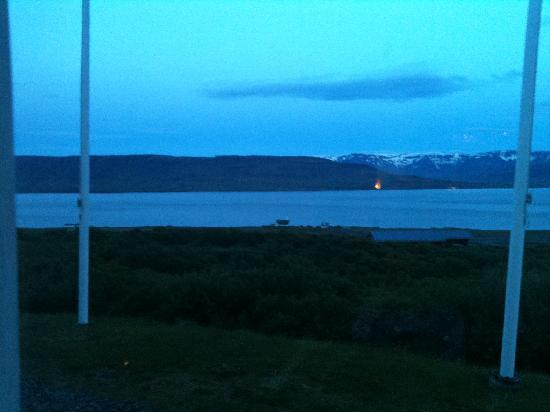Hotel Glymur: View from hotel at 1am! Travel by Arctic Direct