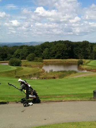 Woodbury Park Hotel & Golf Club: view from conservatory terrace