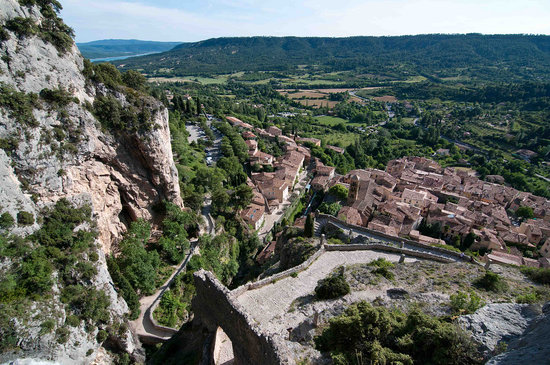 Moustiers Sainte-Marie, France: Vista da Notre Dame De Beauvoir