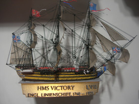 International Maritime Museum: hms victory-actual size about about 50 x 50mm