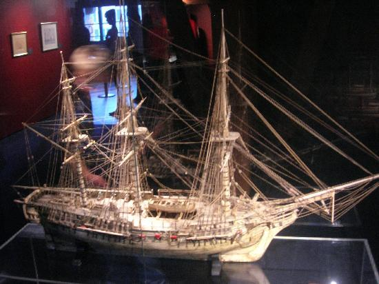 International Maritime Museum: hand made by french napoleonic prisoners-ship of the line