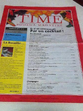 "La Bodega : ""Times Magazine"" menu"