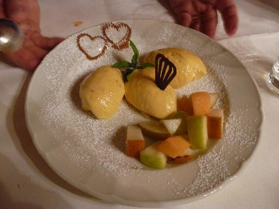 Our Exquisite Dessert at the Gasthof Kohlern Restaurant