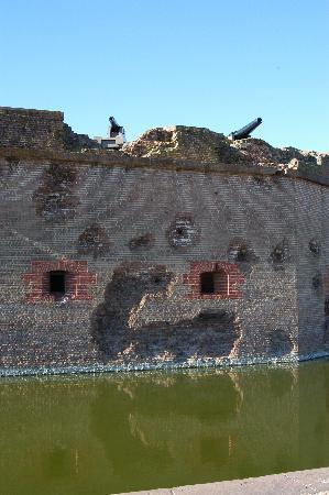 Fort Pulaski National Monument: Union damage to the fort