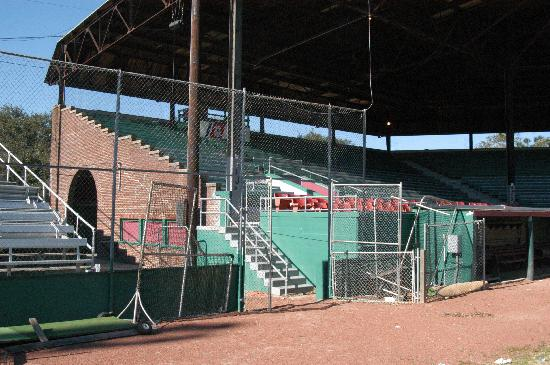 Grayson Stadium : Roof was completed after the war