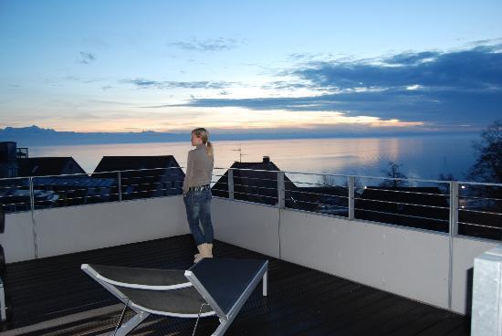 Hotel City Krone: La vista desde la terraza de la última planta.