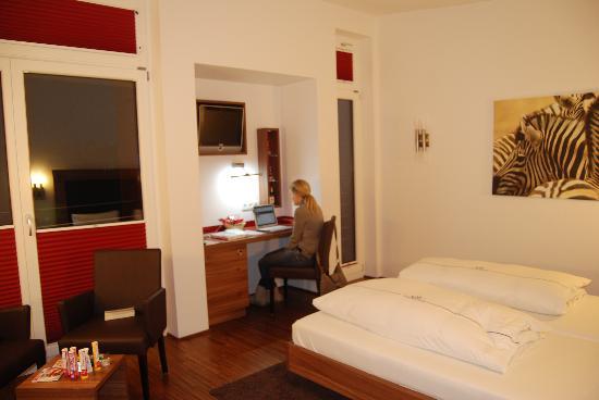 Hotel City Krone: La habitación.