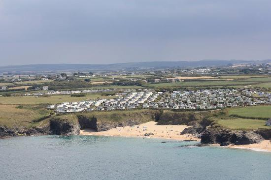St Merryn, UK: Park with beach