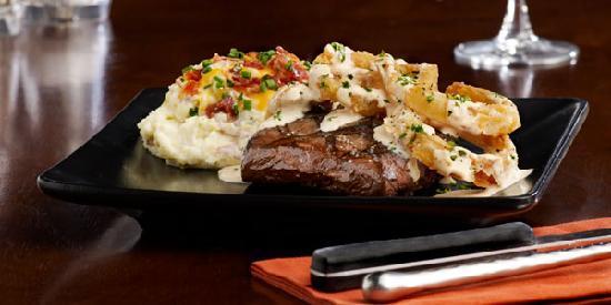 Tony Roma's Ribs, Seafood, & Steaks: Crispy Onion Flat Iron Steak