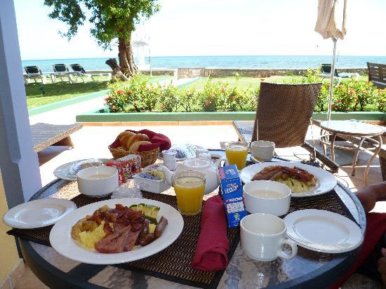Breakfast on our balcony picture of sandals montego bay for On our balcony