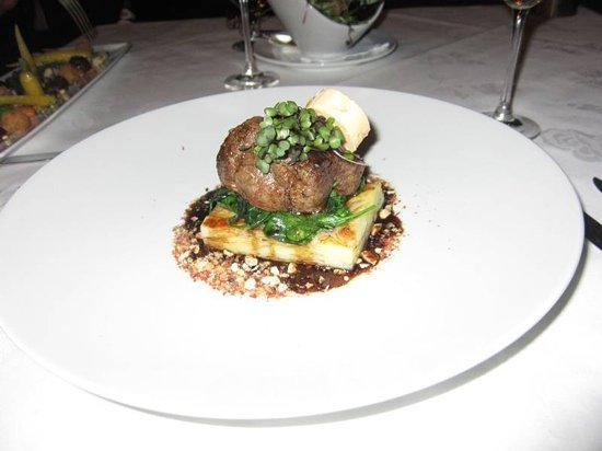 The Panorama Restaurant: filet of beef