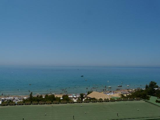 lti Louis Grand Hotel: View from balcony across Glyfada bay